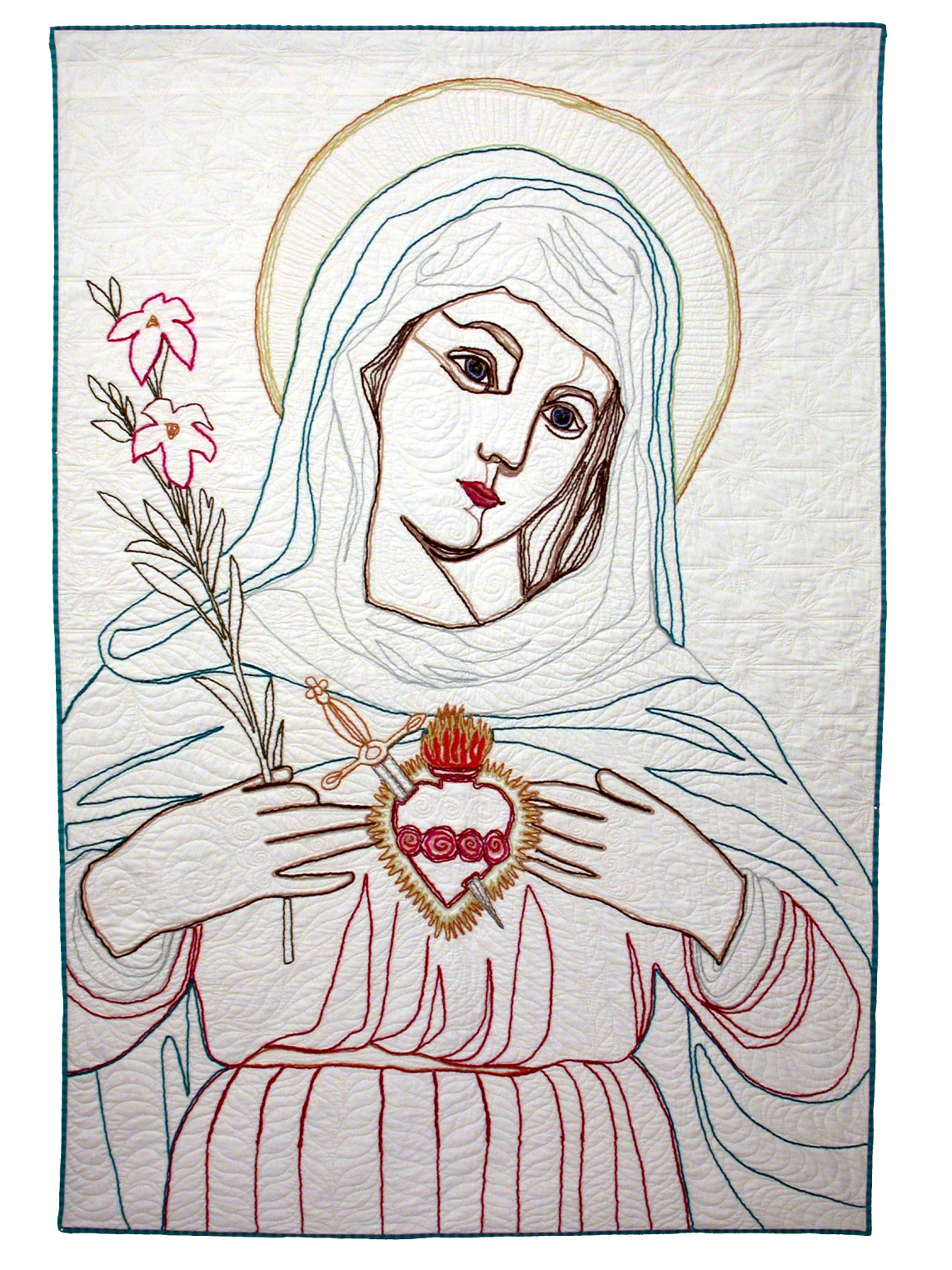 Leah_Weinstein_art_quilts_Madonna